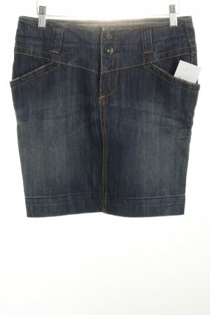 Amisu Jeansrock dunkelblau Washed-Optik