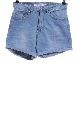 Amisu Pantaloncino di jeans blu stile casual