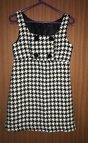 Amisu Kleid weiß schwarz Gr. 36 34 New Yorker Trägerkleid Hahnentrittmuster