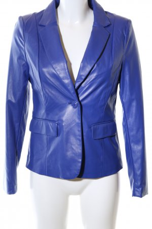 Amisu Kunstlederjacke lila Business-Look