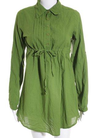 Amisu Langarm-Bluse grasgrün schlichter Stil