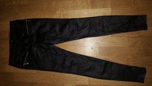 Amisu Pantalón de cuero negro