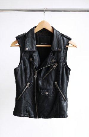 Amisu Leather Vest black imitation leather