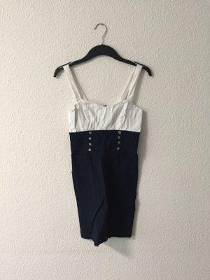 Amisu Matrosen Stretchkleid 36 blau weiss