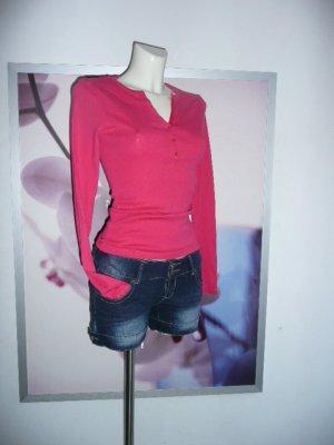 Amisu New Yorker Eyecatcher LongTop Shirt Longsleeve Fuchsia Pink 36-38