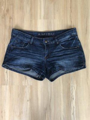 Amisu New Yorker Jeans Hotpants dunkelblau
