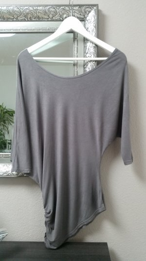 Amisu Off Shoulder Oberteil Bluse Oversize Asymmetrisch Blogger Gr. S 36 38