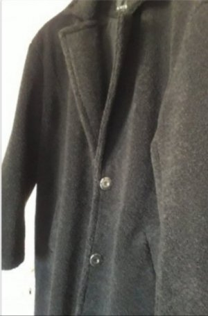 Amisu Abrigo de piel sintética negro Poliéster