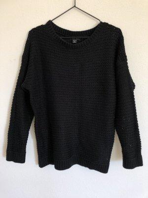 Amisu Pullover a maglia grossa nero