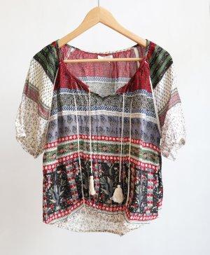 Amisu Shirt mit Ornament Muster