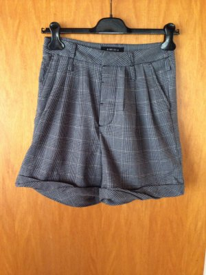Amisu Shorts grau glencheck Muster gr 34 XS