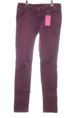 Amisu Skinny Jeans bordeauxrot Casual-Look