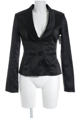 Amisu Blazer de esmoquin negro look casual