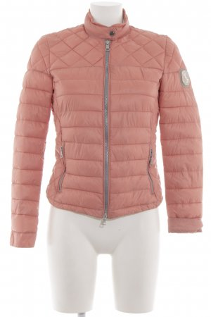 Amisu Quilted Jacket pink-nude quilting pattern casual look