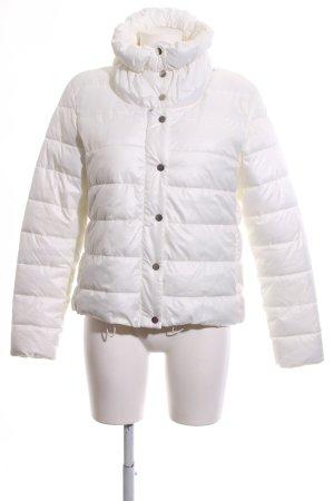 Amisu Veste matelassée blanc motif de courtepointe style décontracté