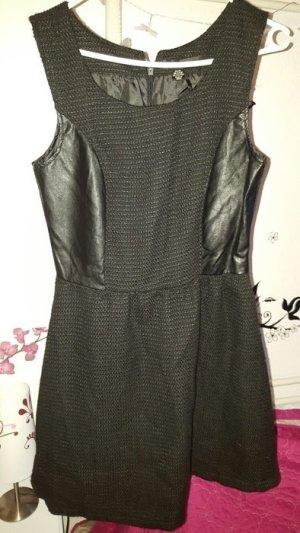 Amisu Stoff Kleid 40 schwarz