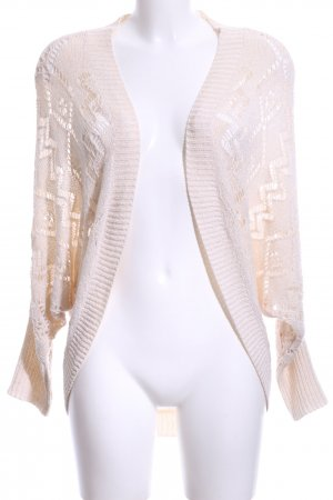 Amisu Knitted Cardigan natural white loosely knitted pattern casual look