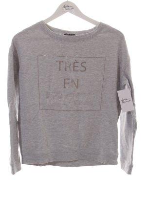 Amisu Sweatshirt gris clair imprimé avec thème style athlétique