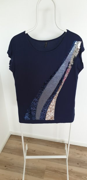 Amisu T-shirt blu scuro