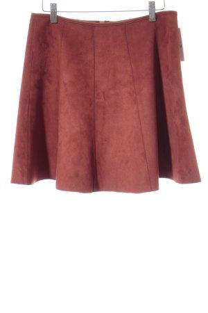 Amisu Tellerrock rostrot schlichter Stil
