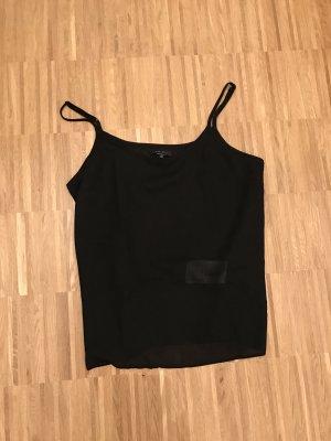 Amisu Top schwarz transparent S 36