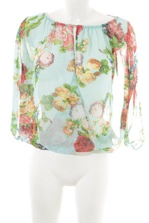 Amisu Transparenz-Bluse Blumenmuster Elegant