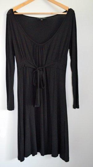 AMISU VISCOSE Jersey Empire Kleid, schwarz, Gr. 36