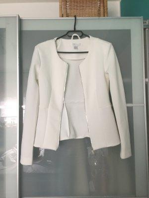 Amisu weißer Blazer Jacke