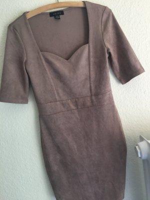 Amisu Wildleder Optik Kleid eng Gr.38 M Dirndl Alternative