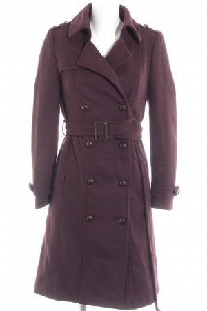 Amisu Wollen jas braambesrood zakelijke stijl
