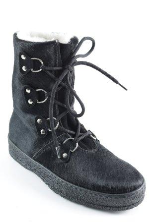 Ammann Schnür-Stiefeletten schwarz Casual-Look