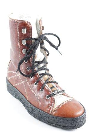 Ammann Winter-Stiefeletten braun-creme Casual-Look