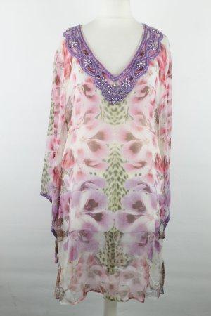 Amor & Psyche Bluse Longbluse Tunika Gr. XS weiß rosa