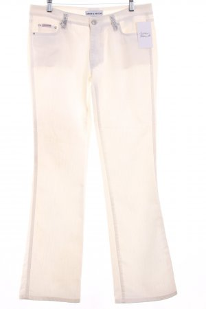 Amor & Psyche Boot Cut Jeans white distressed style