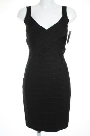 Amor & Psyche Vestido ceñido de tubo negro elegante