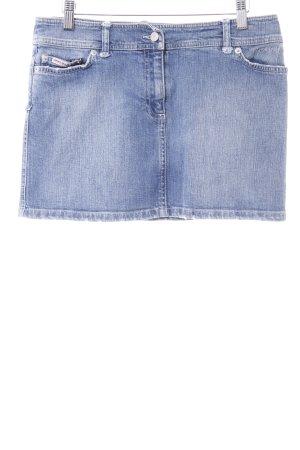 Amor & Psyche Jupe en jeans bleu pâle-gris ardoise motif abstrait