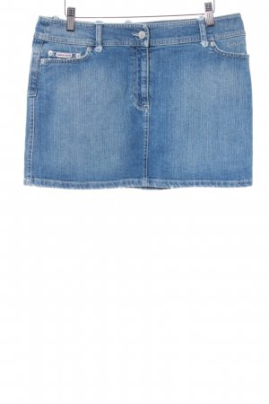 Amor & Psyche Denim Skirt cornflower blue-azure distressed style