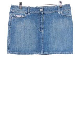 Amor & Psyche Jupe en jeans bleuet-bleu azur style déchiré