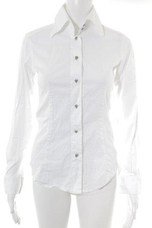 Amor & Psyche Camisa de manga larga blanco elegante