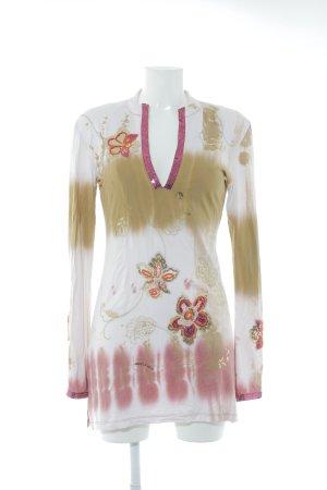 Amor & Psyche Jurk met lange mouwen bloemenprint extravagante stijl