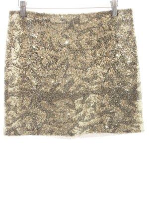 Amor & Psyche Minirock goldfarben-schwarz abstraktes Muster Elegant
