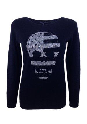 Amor & Psyche Kraagloze sweater zwart