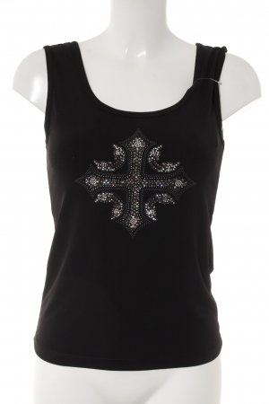 Amor & Psyche Off-The-Shoulder Top black-silver-colored casual look