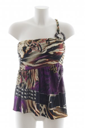 Amor & Psyche Silk Top multicolored extravagant style