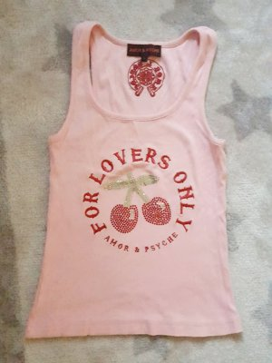 Amor & Psyche Tank Top riptop mit Swarovski-Elementen cherry pin-up Ibiza