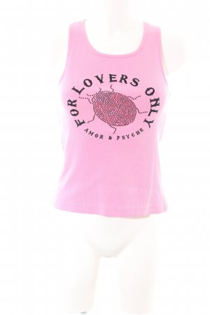 Amor & Psyche Tank Top pink-black themed print casual look