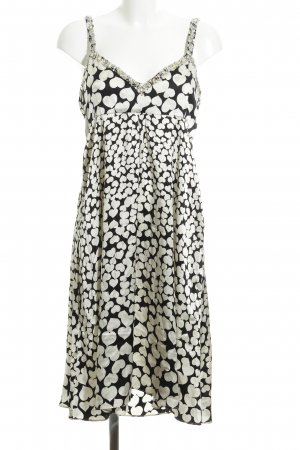 Amor & Psyche Pinafore dress black-natural white graphic pattern casual look
