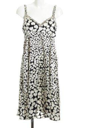 Amor & Psyche Trägerkleid weiß-schwarz grafisches Muster Casual-Look