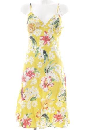 Amor & Psyche Trägerkleid gelb-weiß Blumenmuster Casual-Look