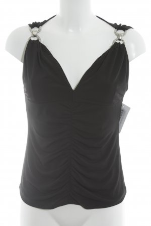 Amor & Psyche Strappy Top black casual look